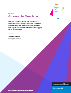 Grocery List Templates download