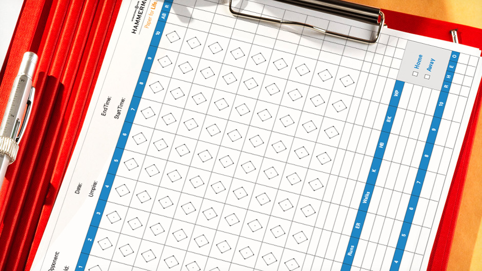 graphic relating to Baseball Score Sheet Printable named Baseball Rating Sheet Template